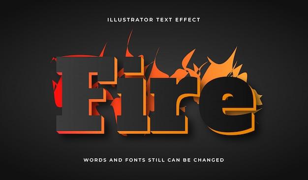 Creative fire editable text effect