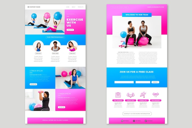 Creative fitness email template with photos
