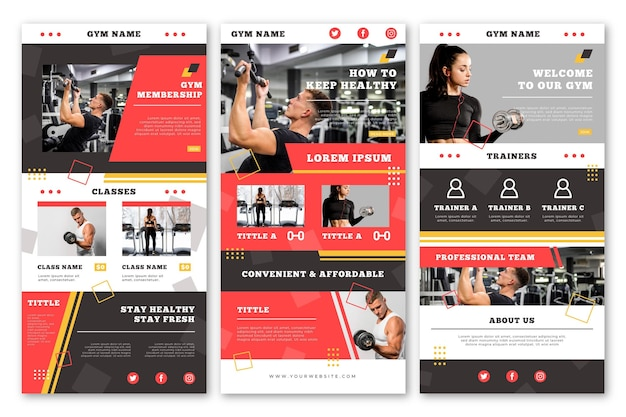 Creative fitness email template