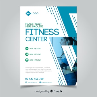 Creative fitness flyer template concept
