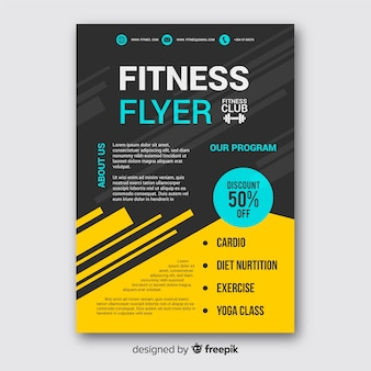 Creative fitness flyer template design