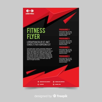 Creative fitness flyer template