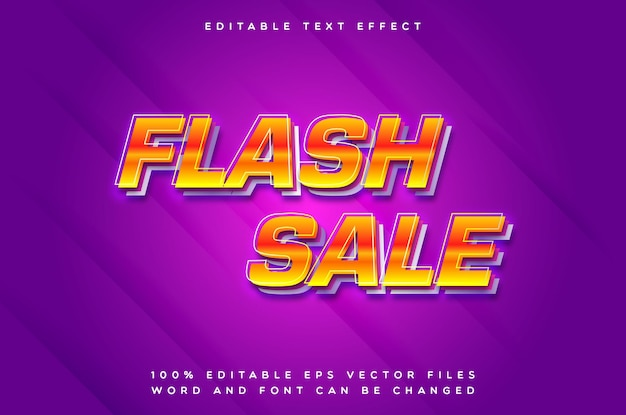 Creative flash sale text effect