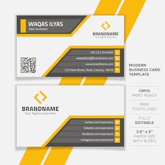 Creative flat business card template