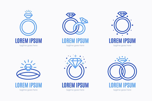 Креативный плоский дизайн кольцевых логотипов