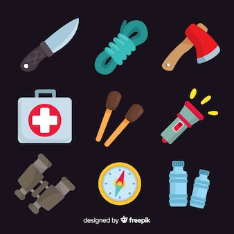 Kit di sopravvivenza piatto creativo di emergenza