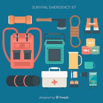 Creative flat emergency survival kit