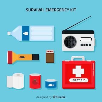 Creative flat emergency survival kit