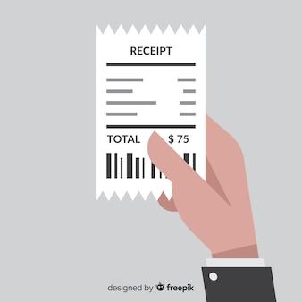 Creative flat payment receipt
