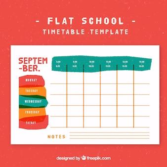 Творческое школьное расписание