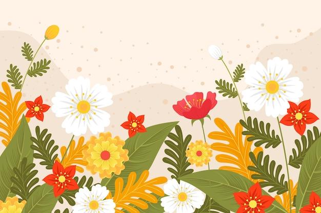 Творческий плоский весенний фон