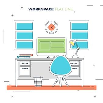 Creative flat workspace