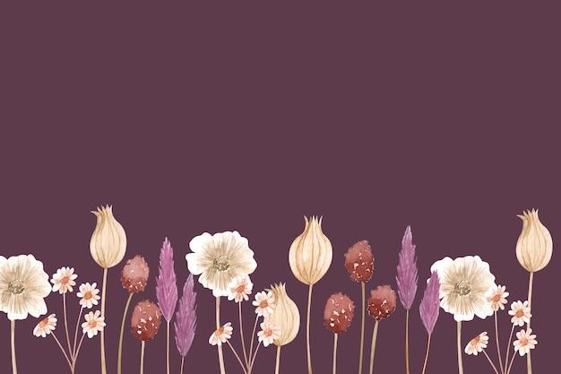 空のスペースと創造的な花の背景