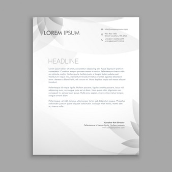 Creative floral letterhead template