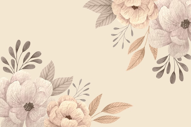 Creative floral wallpaper with empty space