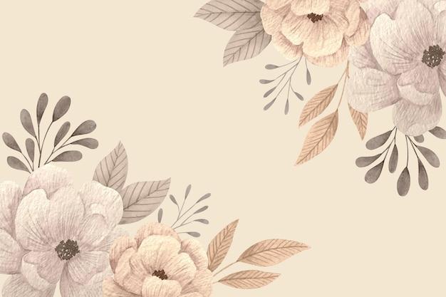빈 공간을 가진 창조적 인 꽃 무늬 벽지