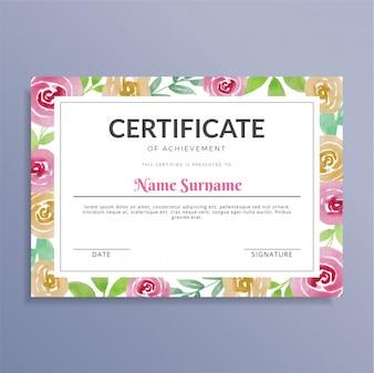 Творческий цветочный акварельный сертификат