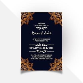 Creative floral wedding invitation card