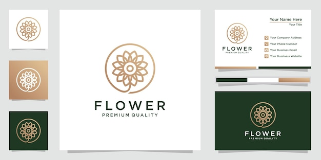 Creative flower logo and business card