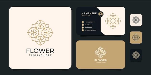 クリエイティブな花のロゴデザイン