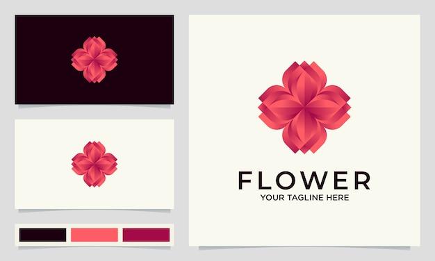サロン、スパ、ウェディング、その他の美容製品向けのクリエイティブなフラワーロゴデザイン