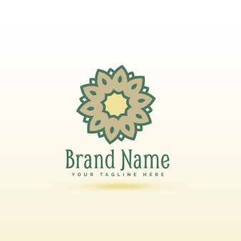 Creative flower style logo concept design