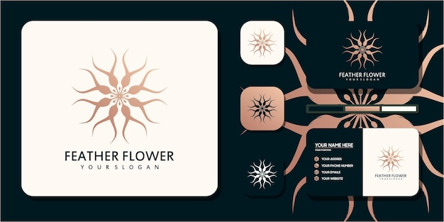 Креативный цветок с концепцией пера