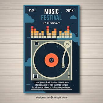 Concetto di volantino creativo per il festival musicale