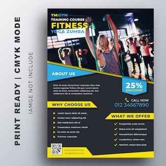 Creative flyer fitness gym design template