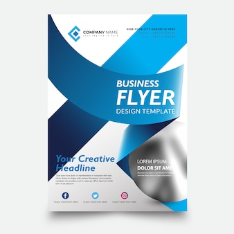 Creative flyer template design vector