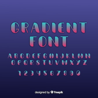 Creative font in gradient style