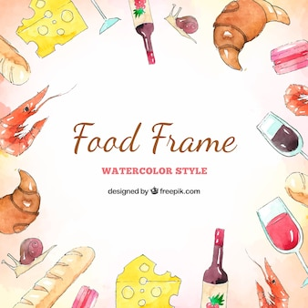 Creative food frame background
