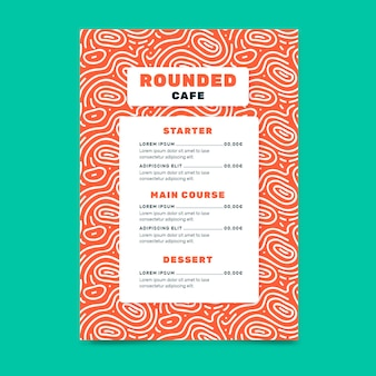Creative food restaurant menu template