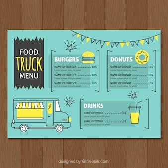 창조적 인 음식 트럭 메뉴