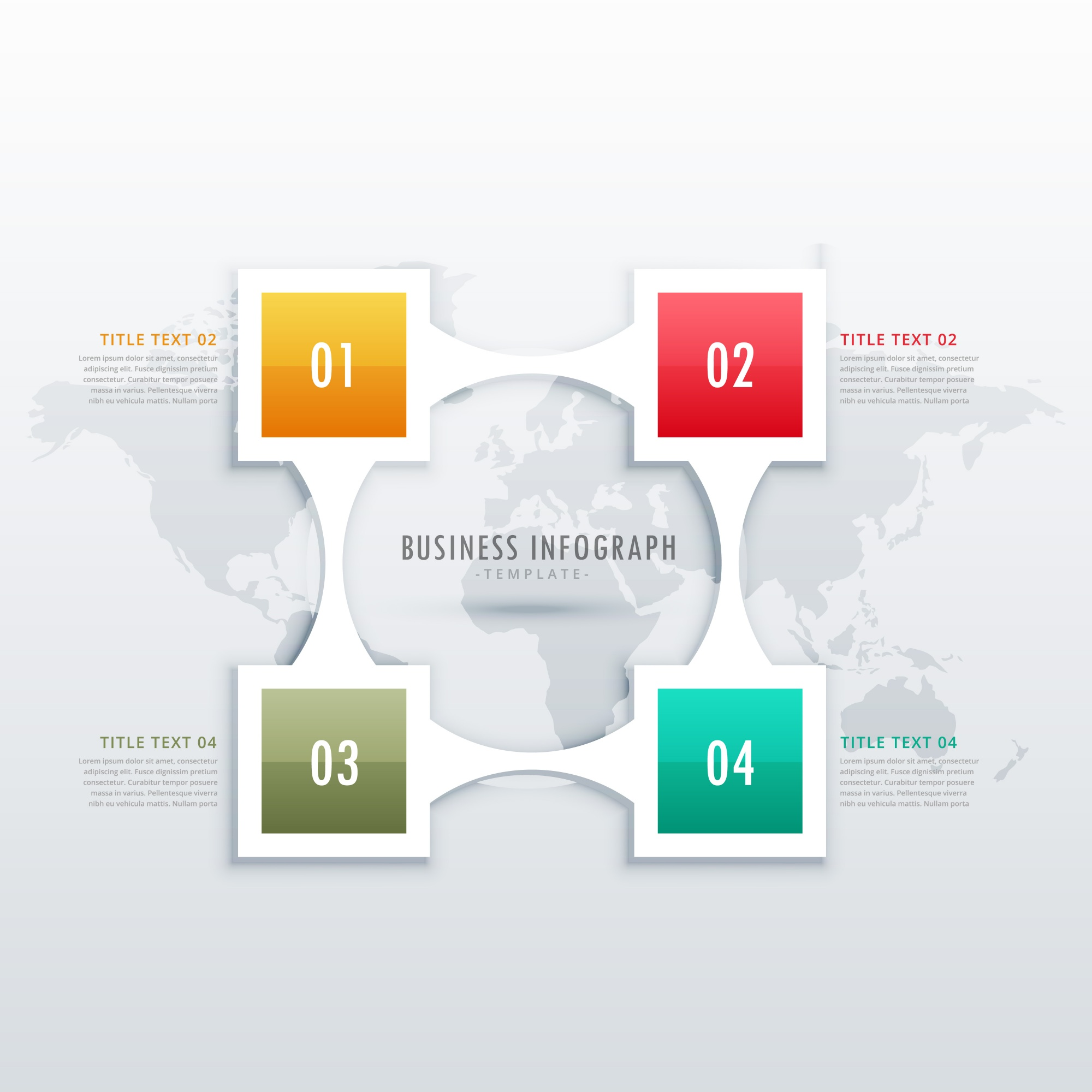 Creative four steps infographic template for business presentation or workflow diagrams
