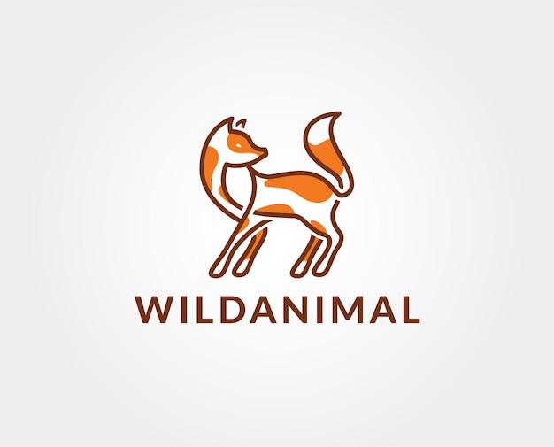 Креативный шаблон логотипа лисы