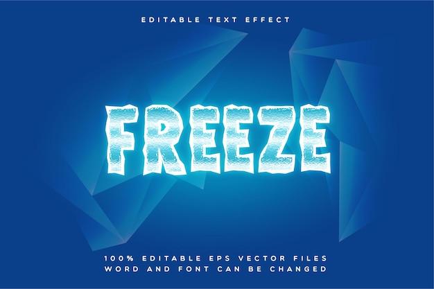 Редактируемый текстовый эффект creative freeze