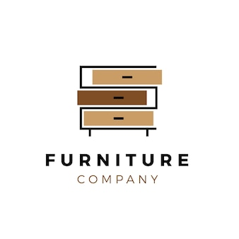 Креативный шаблон мебели логотип
