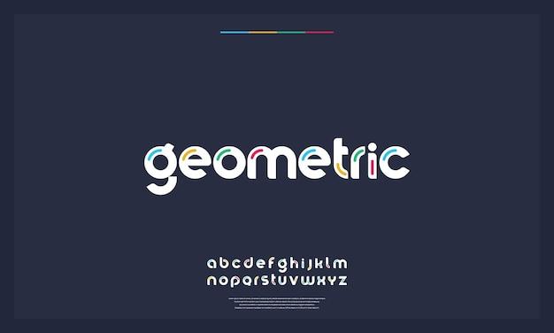 Креативный будущий шрифт современный алфавит для вашего бизнеса