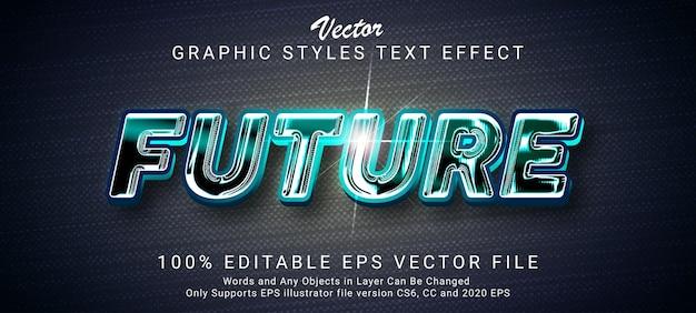創造的な未来的なテキスト効果スタイル