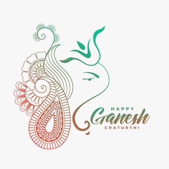Creative ganesha ji  for happy ganesh chaturthi