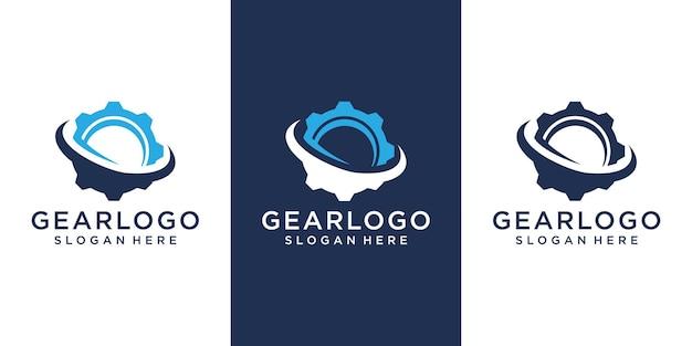 Креативный дизайн логотипа шестерни