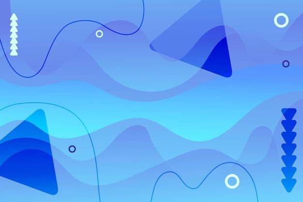 Креативный геометрический минимальный градиент узор жидкие динамические формы абстрактный визуальный фон