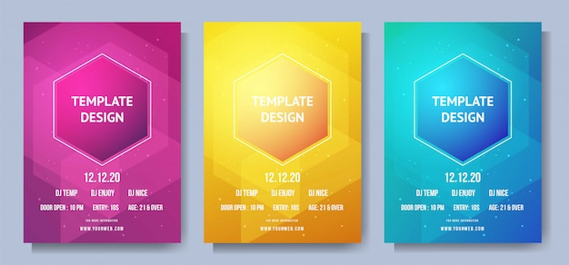 Creative geometric poster with gradient shapes composition
