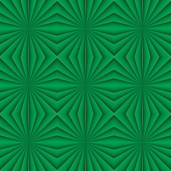 Creative geometric seamless green pattern. floral ornament. for fabric, decor, design, wallpaper