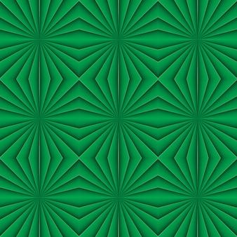 創造的な幾何学的なシームレスな緑のパターン。花飾り。生地、装飾、デザイン、壁紙用
