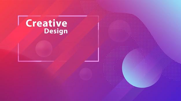 Creative geometric shapes wallpaper