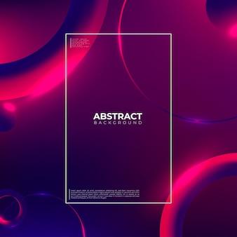 Carta da parati geometrica creativa. composizione di forme sfumate alla moda.