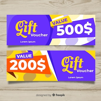 Creative gift vouch template for sales