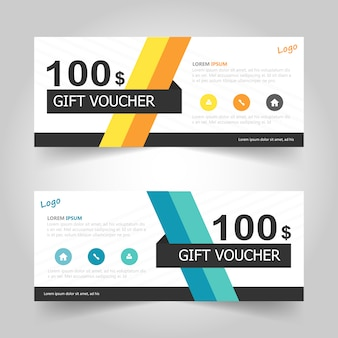 Creative gift voucher banner templates